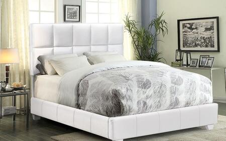 """Biscuit_BISCUITWHQU_Queen_Bed_Complete_""""Bed_in_a_Box""""_with_50_Inch_Tufted_Headboard_and_Low_Profile_Bed_in_White"""