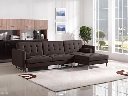 "Opus_Collection_OPUSRFSECTCH_115""_Convertible_Sleeper_Sectional_with_Right_Arm_Facing_Chaise__Accent_Pillows__Chrome_Legs_and_Fabric_Upholstery_in"