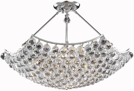 V9802D30C/RC 9802 Corona Collection Chandelier D:30In H:18In Lt:8 Chrome Finish (Royal Cut