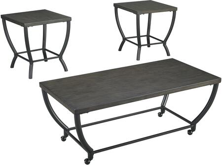 Champori Collection T048-13 3-Piece Occasional Table Set with Coffee Table and 2 End Tables in Greyish