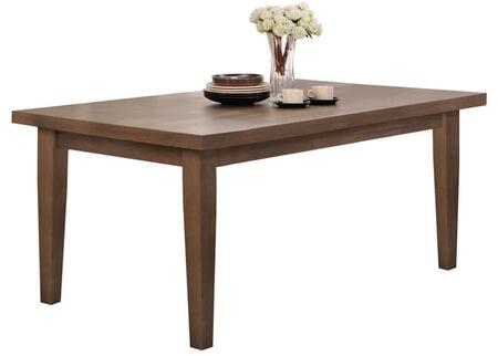 Ulysses Collection 73060 42 inch  Dining Table with Tapered Legs  Rectangular Shape  Rubberwood and Oak Veneer Materials in Weathered Oak