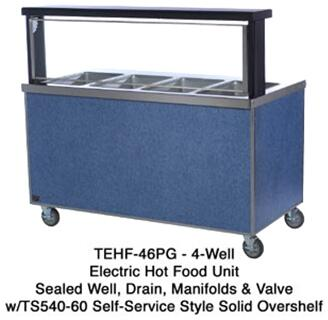 TEHF60SS 60 inch  Thurmaduke Hot Food Serving Counter with 16 Gauge Stainless Steel Top  20 Gauge Stainless Steel Body  Dish Shelf  and 5 inch