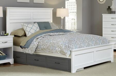 Platinum Collection 517860-3-519500-966600 King Size Panel Bed with Panel Headboard & Footboard  Wood Rails with Slats and Hardwood & Wood Veneer Construction