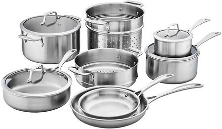 Zwilling 64090-002 Spirit 3-Ply 12-Pc Stainless Steel Cookware  Set
