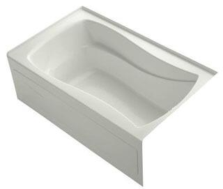 K-1242-RAW-NY Dune 60x36x20 Alcove Apron-Front Acrylic Soaking Bath Tub With Bask Heated Surface  Tile Flange And Right