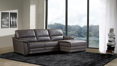 EK-L046 Collection EK-L046L-TPE 2-Piece Sectional Sofa with Left Arm Facing Sofa and Right Arm Facing Chaise in