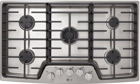 LG Studio LSCG367ST Stainless Steel 36 Gas Cooktop