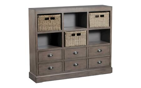 "Currituck Collection 15A2063 46"""" Console with Three Baskets  Six Drawers and Metal Cup Pulls in"" 658036"