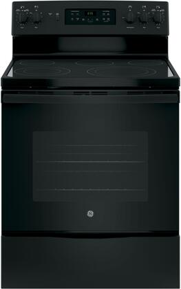 JB655DKBB 30 Star K Freestanding Electric Range with 5 Radiant Elements  5.3 cu. ft. Oven Capacity  Convection  Ceramic Glass Cooktop  Storage