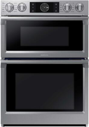 "NQ70M7770DS 30"" Double Wall Oven with 5.1 cu. ft. Total Capacity  Dual Convection Oven  Steam Cooking  WIFI  Knob with LCD Interface and a Glide Rack  in"