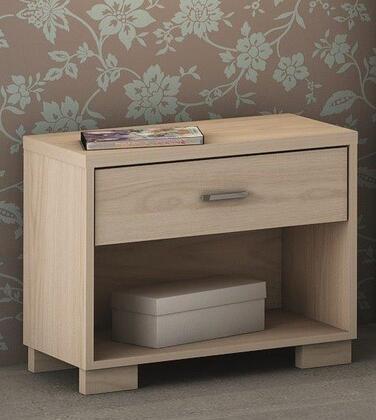 50762 Manhattan Comfort 1- Shelf  1- Drawer Astor Nightstand in Oak Vanilla/ Pro