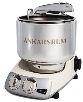 AKM6230LC Ankarsrum Original Mixer with 7 Liter Stainless Steel Bowl  3.5 L Double Whisk Bowl  Dough Hook  Roller  Scraper  Spatula  Dust Cover  Cookie Beaters