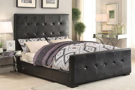 Lorelei 25230Q3PC Bedroom Set with Queen Size Bed + End Table + Sofa Table in Black