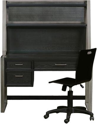 Graphite Collection 8942-BR-K13 3-Piece Set with Desk  Hutch and Chair in