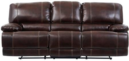 U1953AGNESCOFFEERS 89 inch  Reclining Sofa with Split Back Cushion  Plush Padded Arms  Stitched Detailing in Agnes