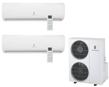 MR36TQY3JM218K Multi-Zone Ductless Split System for 2 Rooms  with 33 000 BTUs  Inverter Technology  4-Way Auto Swing  Heat Pump  17.1 SEER  11.5 EER  and R410A