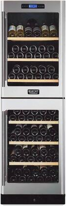 K430AV22 24 inch  Dual Zone Wine Cooler with 155 Bottle Capacity  Touch-Key Control Panel  Wooden Shelves  Fan Cooling System  Safety Lock and LED Lighting  in