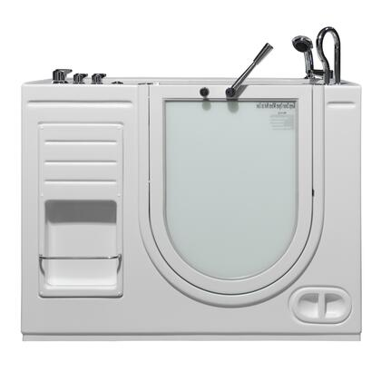 Hydrolife Series HY-1104R 51 inch  x 29.5 inch  x 40 inch H Outward Open Walk-in Tub with Heated Whirlpool System and 17 inch  High  ADA Compliant  Molded Seat in Satin Finish: