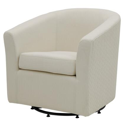 Hayden Collection 193012-2427 Chair  with 360 Degree Swivel and Fabric Upholstery in Bright Sand /Icy Leafage