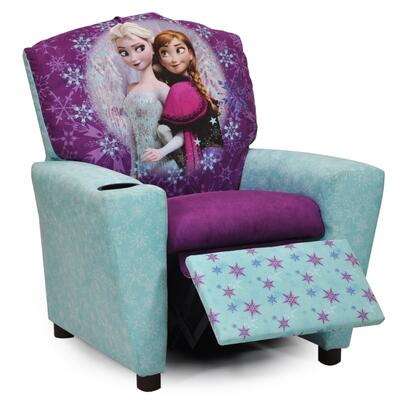 Juvenile 13001DFROZEN  inch Mixy inch  Kid's Recliner with Cup Holder  Ottoman  Soft Densified Fiber Upholstery and Hardwood Frame: Disney's