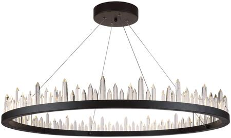 1705D42SDG 1705 Malta Collection Chandelier L:42 In W:42In H:5In Lt:56 Satin Dark Grey Finish (Royal Cut