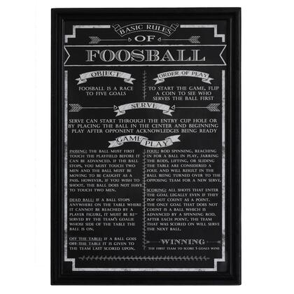 NG2029FB Foosball Game Rules Wall