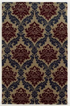Bbdbd860600042608 Bradberry Downs Bd8606-26 X 8 Hand-tufted 100% Premium Blended Wool Rug In Dark Beige  Rectangle