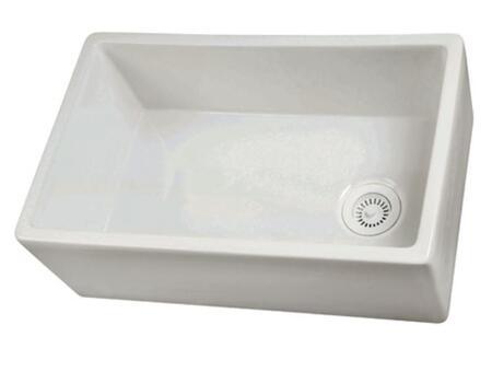"29.75"" x 17.88"" Single Bowl Fire Clay Farmhouse Kitchen Sink FS30"