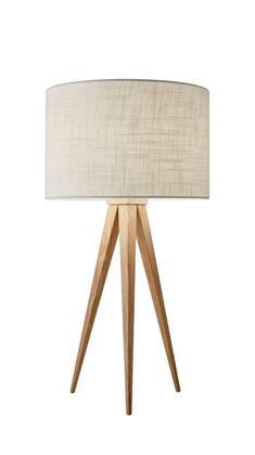 6423-12 Director Table Lamp  Natural Wood
