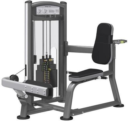 E-5083 Titanium Series 9316 Rotary Calf Machine with 150 lbs. Incremental Weight Stack  Military Grade Cables and High-Tech Oval Tubing in Black and