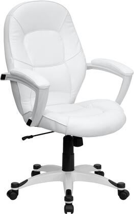 Click here for QD-5058M-WHITE-GG Mid-Back White Leather Executive... prices