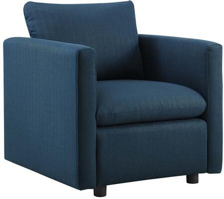 Modway EEI-3045-AZU Activate Upholstered Fabric Armchair Azure