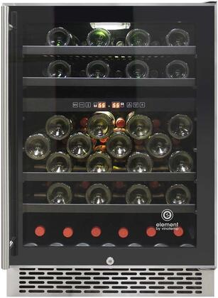 Element by Vinotemp EL-46SS-2Z Butler Series 46-Bottle Dual-Zone Refrigerator, Wine Cooler, One size Black, stainless steel