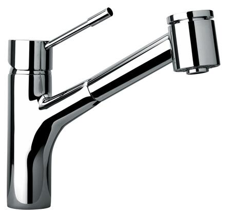 25576-85 Single Hole Kitchen Faucet With Pull-Out Spray Head  Designer Brushed Chrome