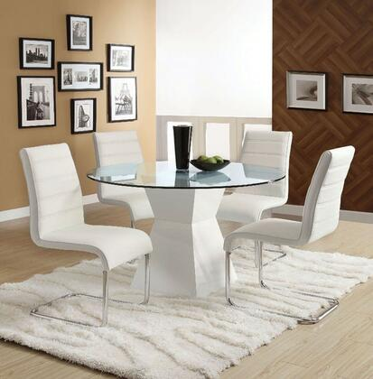 Mauna Collection CM8371WHTDT4SC 5-Piece Dining Room Set with 45