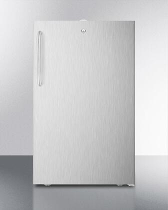 FF511L7CSS Commercially listed 20 inch  wide built-in undercounter all-refrigerator in complete stainless steel  auto defrost with  a