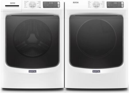 White Front Load Laundry Pair with MHW6630HW 27
