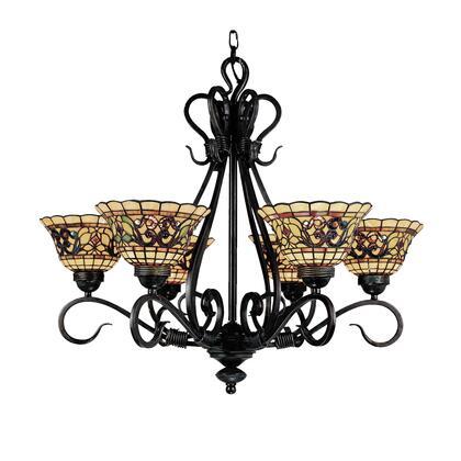 Elk Lighting 366-VA Tiffany Buckingham 6-Light Chandelier In Vintage Antique /w Tiffany Style Glass (Shipping Included) 366-VA
