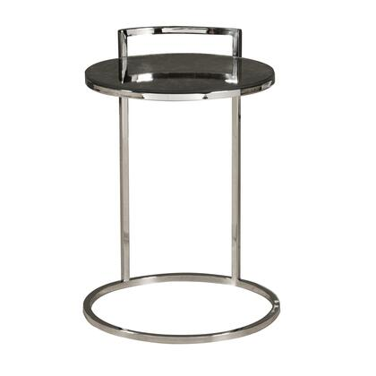 DSD191249 Contemporary Round Stainless Steel And Glass Side Table In