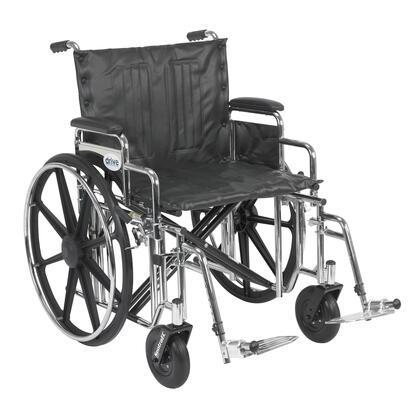 std22dda-sf Sentra Extra Heavy Duty Wheelchair  Detachable Desk Arms  Swing Away Footrests  22