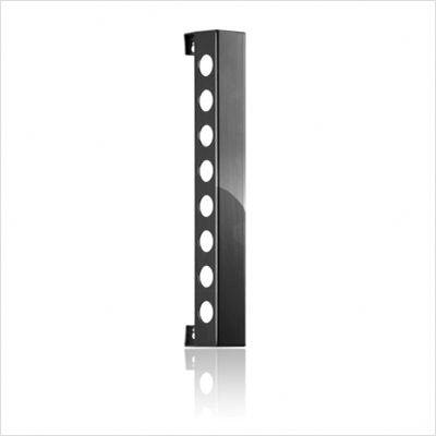 VB8PBK Polished Black Vertical Wine Rack With Vertically Mounted  Capacity 8 Bottles  & In