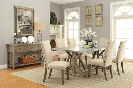 Webber Collection 105571-S8 8-Piece Dining Room Set with Rectangular Dining Table  6 Side Chairs and Server in