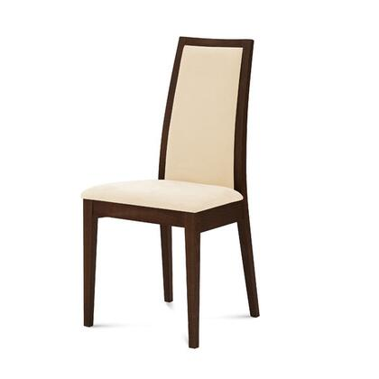 TOPIC.S.000.WE8HAW Topic Chair with Beige Fabric in Wenge