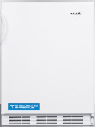 FF6BIADA 24 inch  ADA Compliant Compact Refrigerator with 5.5 cu. ft. Capacity  Adjustable Shelves  Crisper  Door Storage and Interior Lighting: White Door with