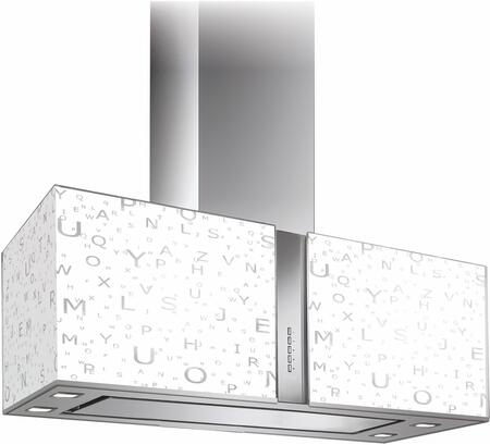 IS34MURALFA 34 inch  Murano Zebra Series Range Hood with 940 CFM  4-Speed Electronic Controls  Delayed Shut-Off  Filter Cleaning Reminder  Internal Whisper-Quiet