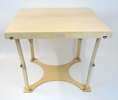 CD3636-NB Hand Crafted and Custom Finished Puzzle Folding Table in Natural