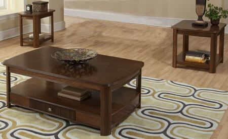 30712CEE Leighla 3 Piece Occasional and Entertainment Table Set with Cocktail Table  End Table and Chairside End Table  in