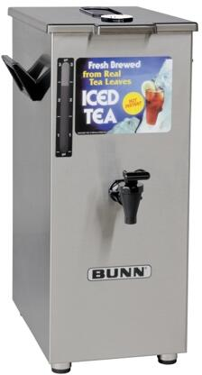 032500005 TD4T Dispenser Square Style Iced Tea And Coffee Dispenser With Brew-Through Lid  4Gal