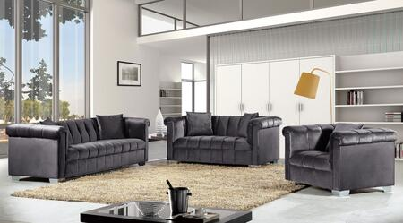 Kayla Collection 739459 3-Piece Living Room Sets with Stationary Sofa  Loveseat and Living Room Chair in