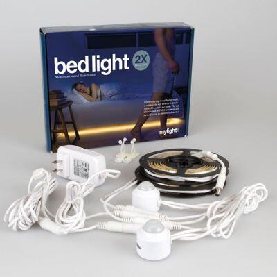 5707823555858 Mylight.Me Bedlight Ambient LED Light Kit  Two Motion Activated Sensors  and Two 4ft LED